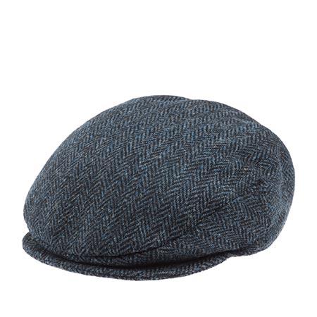 Кепка HANNA HATS арт. Vintage Ear Flaps 77B2EF (темно-синий / черный)