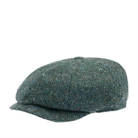 Кепка HANNA HATS арт. JP Tweed JP2 (зеленый / серый)
