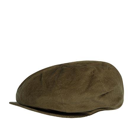 Кепка HANNA HATS арт. Newsboy Velvet 20B2 (оливковый)