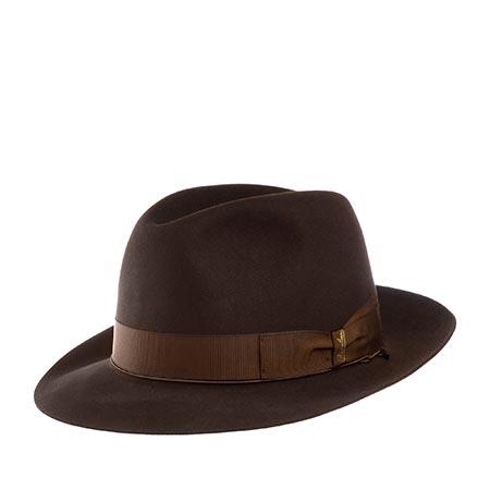 Шляпа BORSALINO арт. 111148 ANELLO (темно-коричневый)