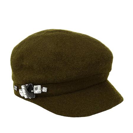 Кепка BETMAR арт. B521 RHINESTONE CAP (оливковый)