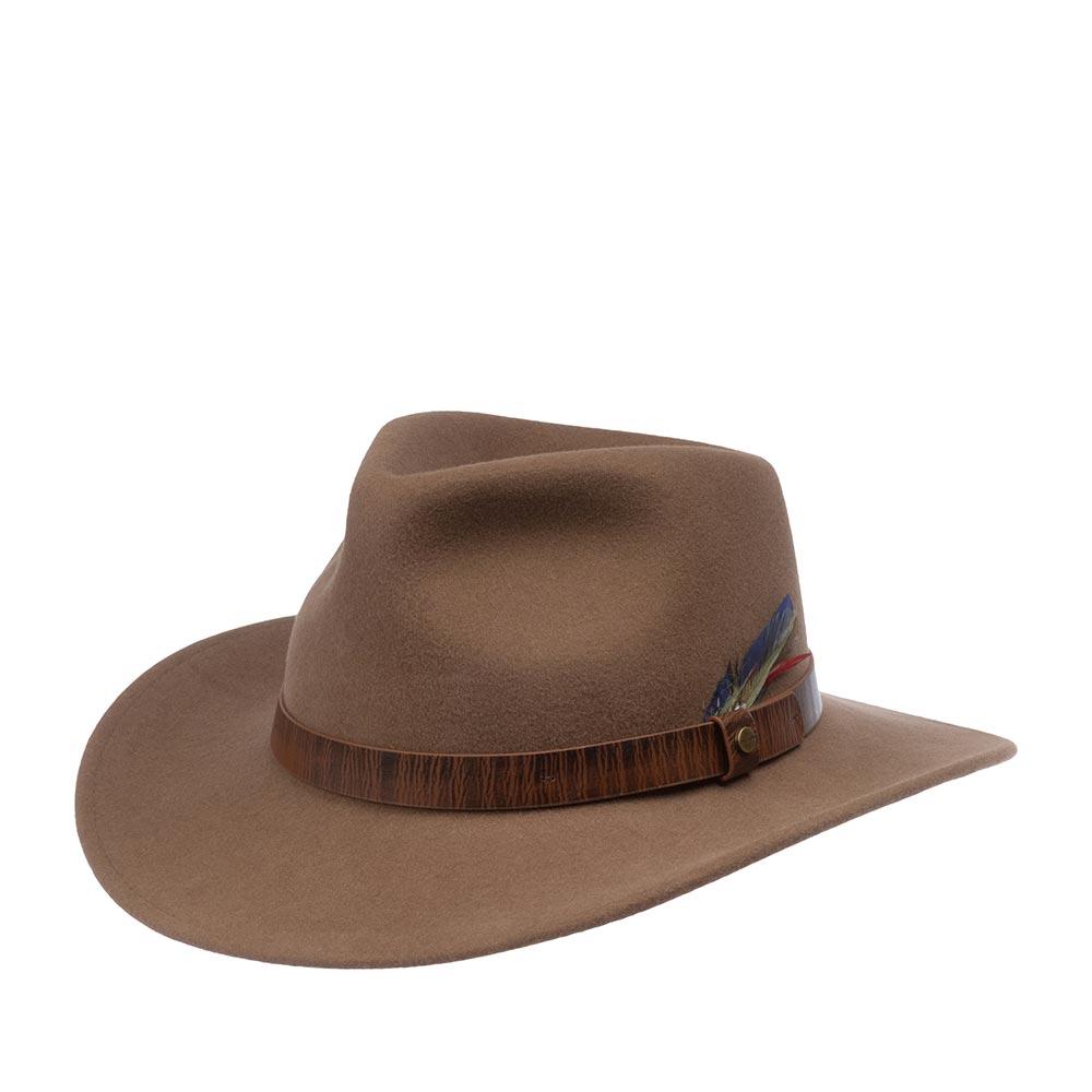 Шляпа STETSON арт. 2798101 WESTERN WOOLFELT (коричневый)