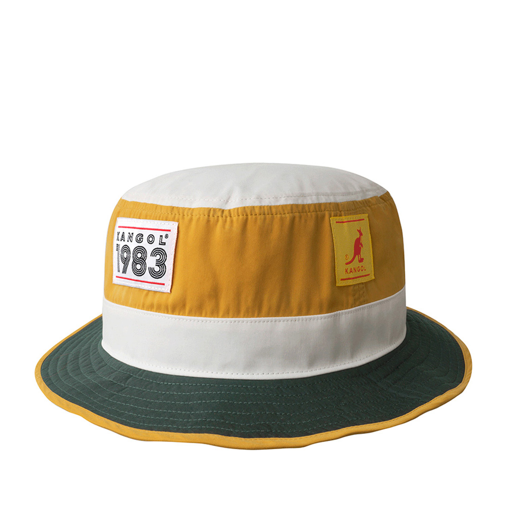 Панама KANGOL арт. K4155ST 1983 Hero Bucket (зеленый / желтый)