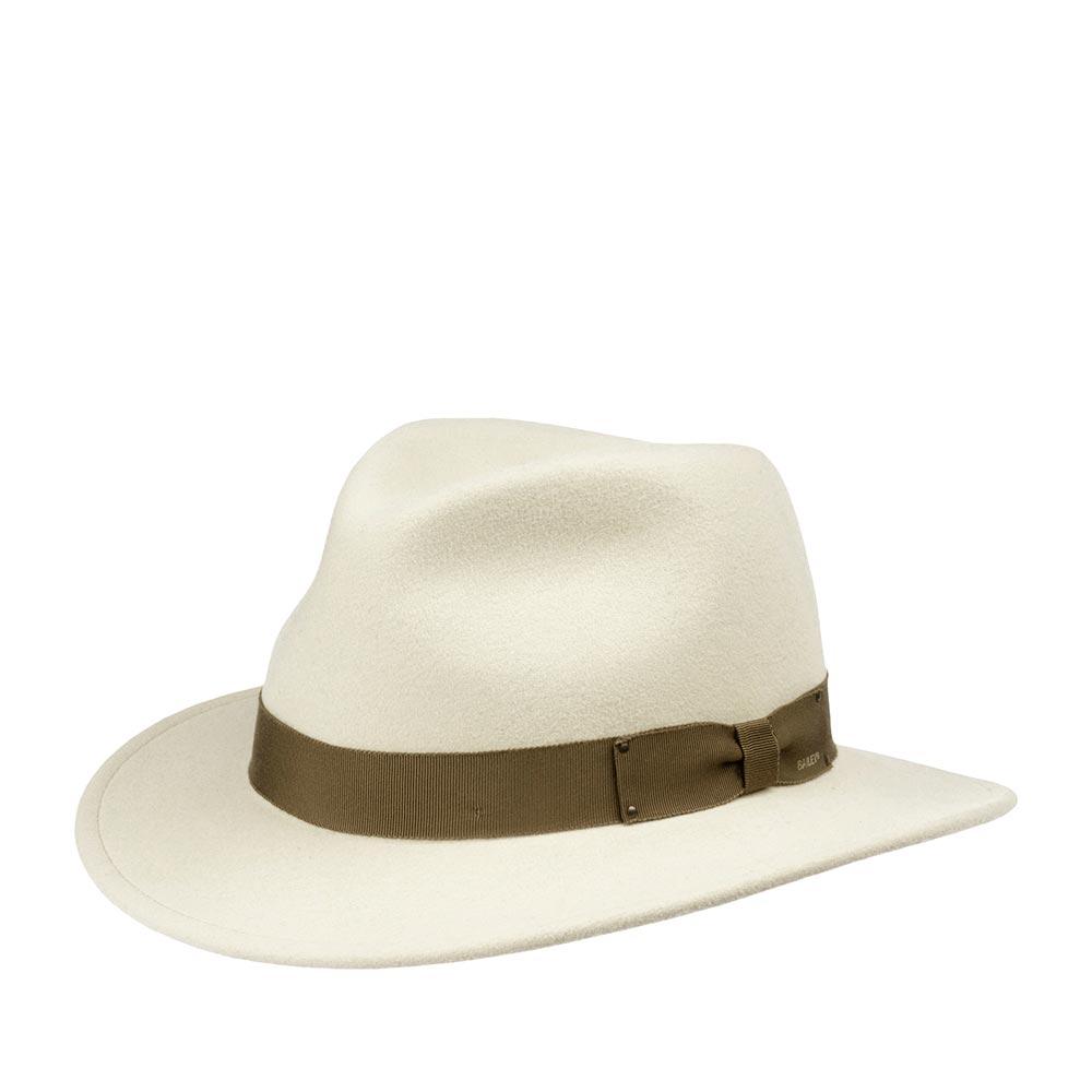 Шляпа федора BAILEYШляпы<br>Curtis - классическая федора с полями средней длины! В этой шляпе можно наблюдать идеальное сочетание стиля и функциональности головного убора для частого ношения! Модель сделана из высококачественного фетра в США, с применением уникальной технологии Lite Felt - это революционная пропитка, которая добавляет материалу водоотталкивающие свойства и способность дольше сохранять и быстро восстанавливать форму. Мягкие поля этой шляпы можно немного опускать вниз, тогда головной убор приобретает красивые плавные линии и будет слегка прикрывать глаза, либо поднимать вверх для более открытого, молодёжного образа. Шляпа украшена японской шелковистой лентой гро-гро с бантом сбоку, на котором лазером выгравировано название бренда Bailey. Внутри шляпы пришита лента для удобной посадки на голову. Высота тульи: 11 см в видимой части, ширина полей - 6 см.