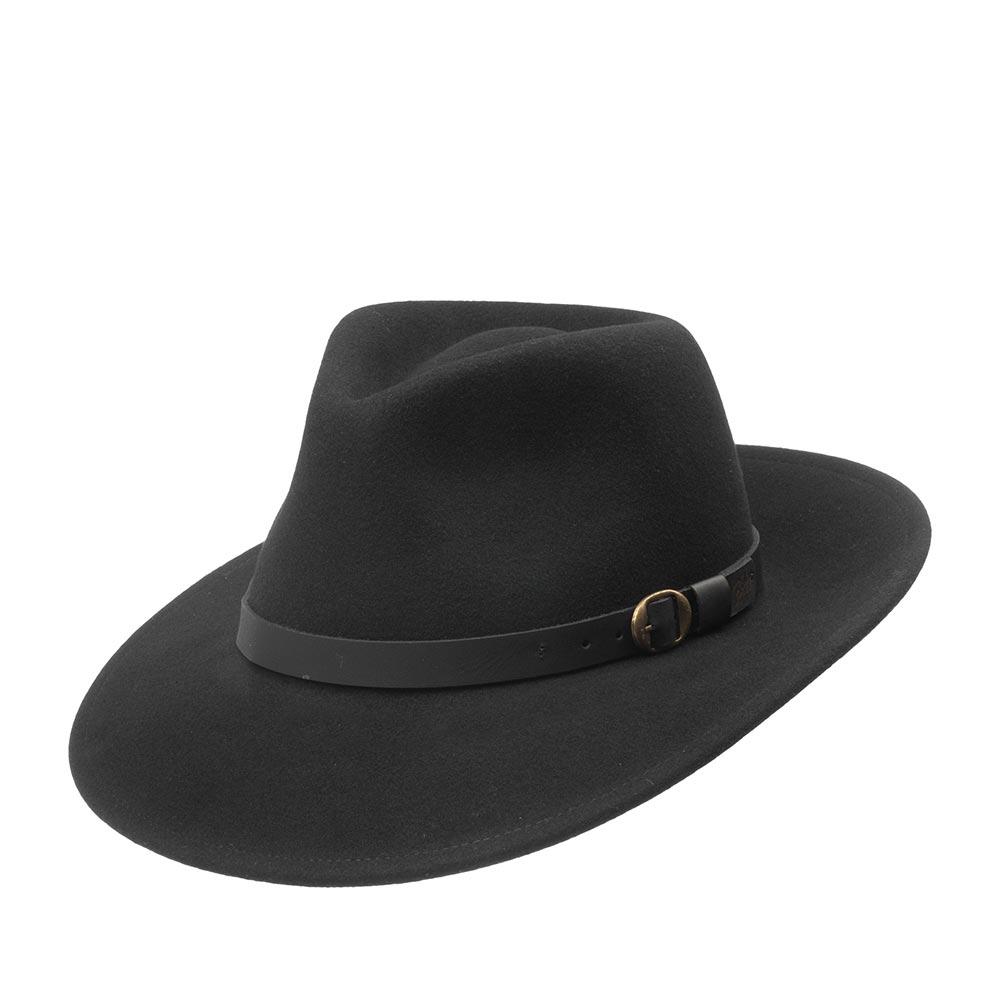 Шляпа федора BAILEYШляпы<br>Briar - восхитительная мужественная шляпа-федора чёрного цвета. Имеет поля шириной 6,5 см, слегка опущенные вниз сзади и спереди, что придаёт шляпе небольшой западный акцент. Тулья украшена кожанной лентой с металлическим значком Bailey. Специальная отделка шерсти Lanolux придаёт шляпе бархатистость и эксклюзивный внешний вид. Сделана в США.