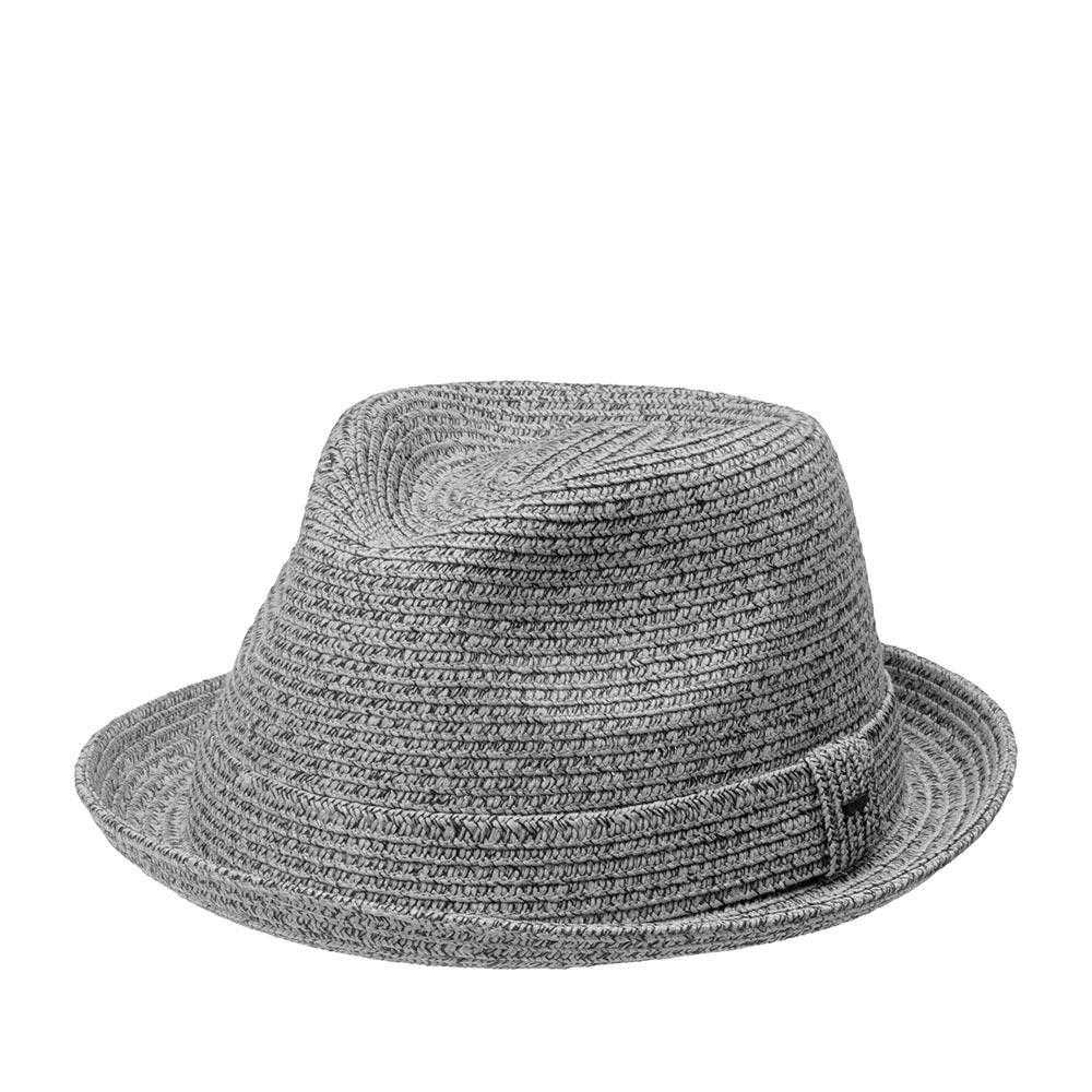 Шляпа хомбург BAILEYШляпы<br>Billy - универсальный, современный хомбург от мастеров шляпного дела Bailey. Это отличная модель для тёплого времени года, и на каждый день, и для праздничного выхода. Мягкая, тонкая шляпа, с прекрасной посадкой на голову, короткими полями и ультрастильным фасоном хорошо подойдёт к любому овалу лица. Модель отлично держит форму и, вместе с тем, поля можно изгибать вверх и вниз, по желанию за счёт эластичного материала головного убора. Billy - летний аксессуар, он лёгкий и вентилируемый. Тулья украшена лентой из материала идентичного шляпе, с перетяжкой, которая отмечена маленькой скобкой с логотипом бренда Bailey. Внутри пришита лента. Высота тульи - 11,5 см, ширина полей - 4 см.