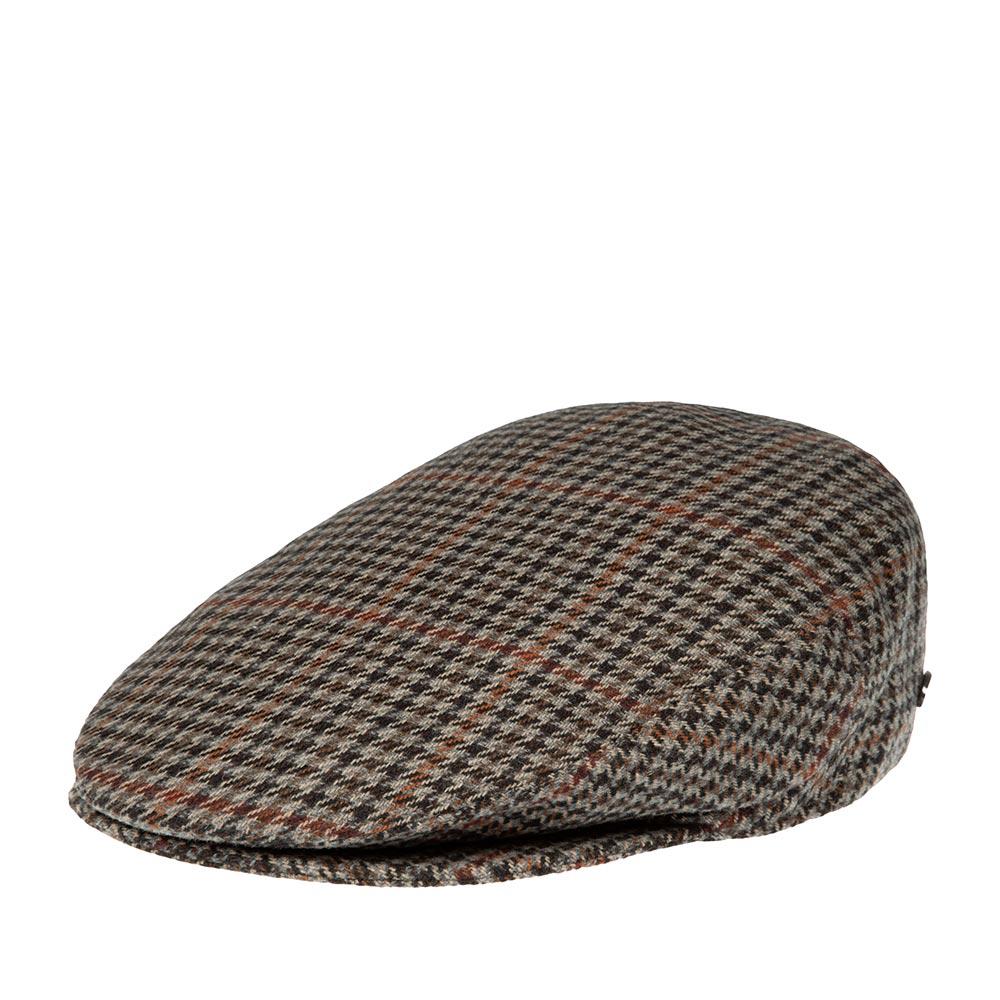Кепка плоская BAILEYКепки<br>Lord – классическая плоская кепка реглан в бежево-чёрную клетку, сшитая из мягкого шерстяного твида. Внутри имеет шёлковую подкладку, а по окружности вшита специальная лента для комфортной посадки на голову. Неизменный атрибут стиля и достоинства, кепку серии LORD отличает утончённая грация линий, непревзойдённое качество пошива на лучших Итальянских фабриках и высокая функциональность в любую погоду. Носите с удовольствием!