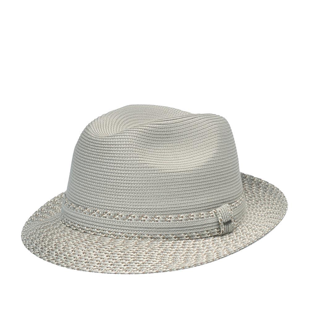 Шляпа федора BAILEYШляпы<br>MANNESROE - летняя федора из коллекции Breed. Смелый и стильный, этот головной убор подойдет к летней вечеринке. Многоцветный узор на полях и ленте добавит привлекательности вашему образу и, прежде чем вы это заметите, все ваши друзья будут спрашивать, где вы приобрели этот великолепный аксессуар. Внутри по окружности пришита мягкая лента для комфортной посадки по голове. Высота тульи - 9 см, ширина полей - 5 см.