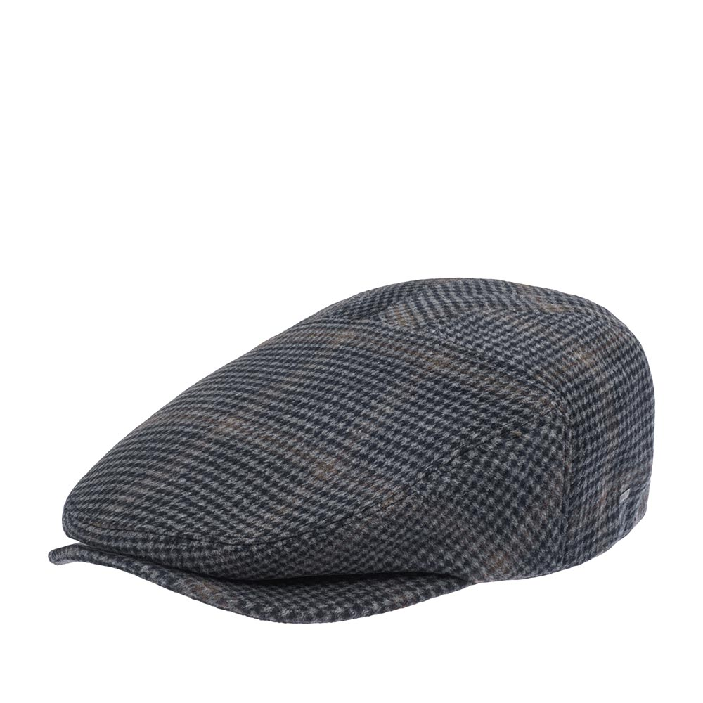Кепка плоская BAILEYКепки<br>Smit - плоская кепка из уникальной линейки Breed производителя Bailey, в которой собраны одни из самых стильных и изысканных моделей. Сшита из полушерстяной ткани, отлично подойдёт для прохладной погоды. Эта кепка является новой версией классического твидового реглана. Благодаря своему необычному крою она смотрится более современно. Линии задней панели кепки добавляют модели обтекаемую форму, что обеспечивает органичный casual вид и посадку этой кепке. Передняя панель пришита к изогнутому козырьку. Приглушённая расцветка этого головного убора отлично впишется практически в любой гардероб. Внутри пришита тканевая подкладка с узором из лампочек, а также лента по окружности кепки для удобной посадки.