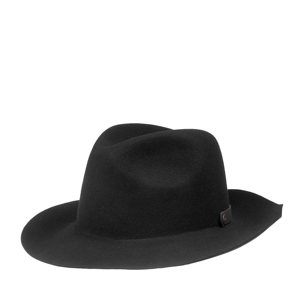 Шляпа федора BAILEYШляпы<br>Мягкая фетровая шляпа из великолепного качества американской шерсти, созданная в США на фамильной фактории бренда BAILEY. Ashmore - складываемая шляпа, а это значит, что она не боится быть свёрнутой в трубочку. Специально для этой цели в задней ее части предусмотрен кожанный ремешок с двумя кнопками, который может закрыться на сворачиваемой шляпе. После сворачивания шляпа вновь принимает прежнюю форму и отлично смотрится на голове. Ширина полей - 7 см.