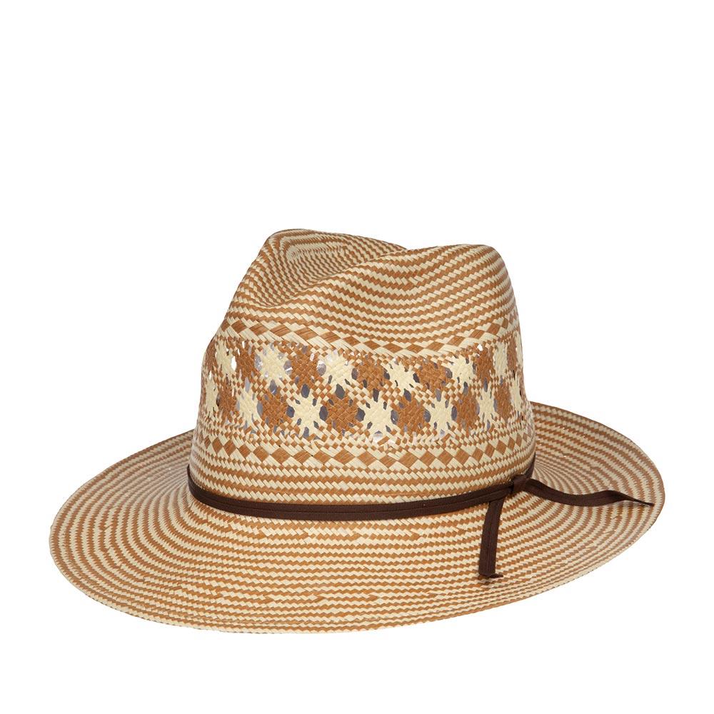 Шляпа ковбойская BAILEYШляпы<br>Berger - ковбойская шляпа от BAILEY, изготовленная из соломы наивысшего качества. Модель прекрасно садится по голове, а за счет перфорации на тулье шляпы очень хорошо вентилируется. И даже в самый жаркий день в ней очень комфортно находится на улице. Шляпа украшена тонкой репсовой лентой. Внутри по окружности пришита мягкая лента для комфортной посадки по голове. Высота тульи - 10см. Ширина полей - 7,5 см. Изготовлено в США.