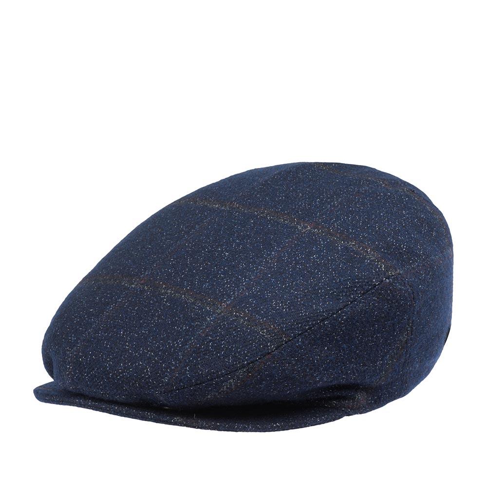 Кепка плоская BAILEYКепки<br>LORD - классическая плоская кепка реглан, сшитая из шерсти c добавлением хлопка. Данная модель представлена в интересной расцветке: крошечные вкрапленая белой нити на синем фоне в крупную тонкую клетку. Внутри кепка имеет шёлковую подкладку, а по окружности вшита текстильная лента для комфортной посадки головного убора. Неизменный атрибут стиля и достоинства, кепку серии Lord отличает утончённая грация линий, непревзойдённое качество пошива на лучших Итальянских фабриках и высокая функциональность в любую погоду. Носите с удовольствием!