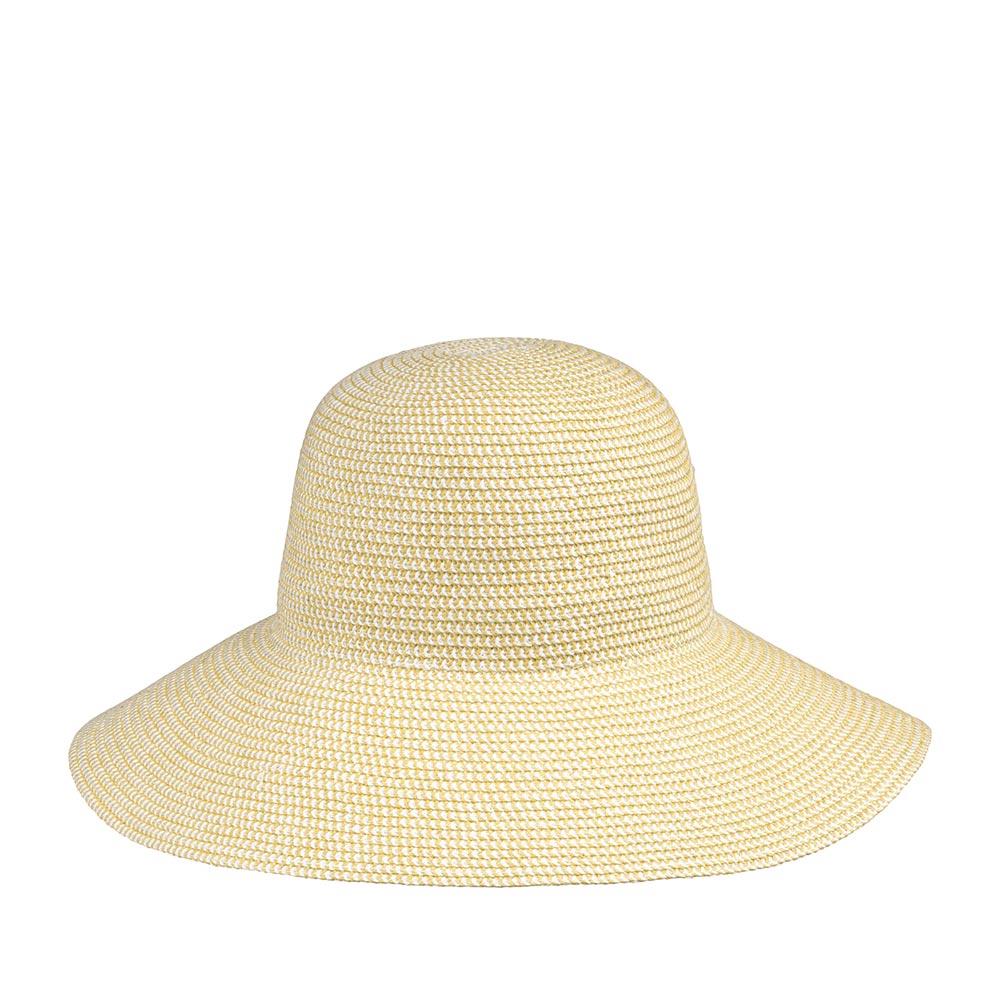 Шляпа с широкими полями BETMARШляпы<br>Широкополая плетёная шляпа со специально опущенными вниз полями. Женственная модель с оттенком таинственности и загадки. Универсальный бежевый цвет идеально подойдёт к любому вашему летнему гардеробу.