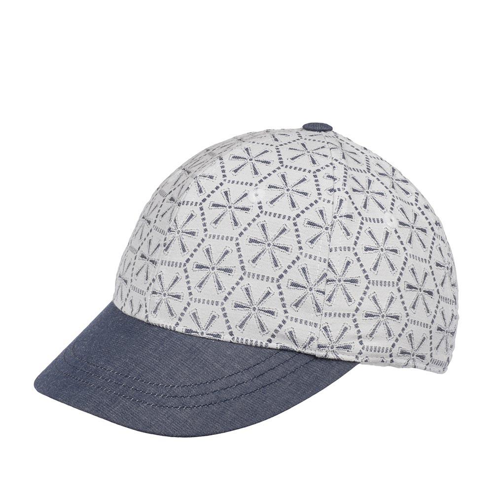 Бейсболка BETMAR арт. B1913H LACE BASEBALL CAP (белый / синий) {white.denim}
