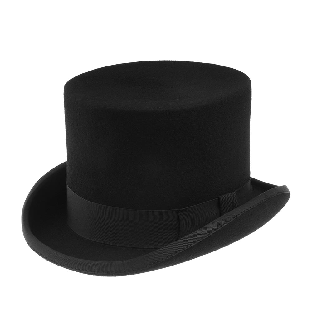 Шляпа цилиндр CHRISTYSШляпы<br>Fashion top hat - классический цилиндр от Christys. Модель сделана вручную, в лучших традициях изготовления шляп. Сшита из высококачественной шерсти. Тонкий, лёгкий головной убор очень комфортно садится на голову и удобен при ношении. Аксессур хорошо держит форму, поля зафиксированы в положении вверх, их край отстрочен репсовой лентой. Этой же лентой с бантом лаконично украшена тулья. Внутри Вы найдёте пришитую по окружности ленту, для удобной посадки на голову, и шелковистую подкладку чёрного цвета с логотипом производителя. На модель приятно смотреть даже когда Вы снимаете шляпу. Fashion top hat выручит Вас когда необходимо выглядеть изысканно на все 100 %, на официальных мероприятиях и если захочется сделать эффектный casual образ! Высота тульи - 14,5 см, ширина боковых полей - 3,5 см, ширина переднего и заднего полей - 5 см.