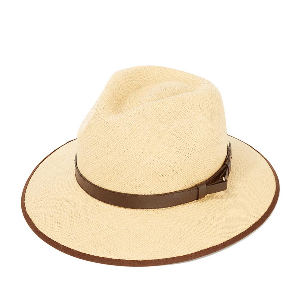 Шляпа федора CHRISTYSШляпы<br>CLASSIC DOWN BRIM - классическая панама от CHRISTYS, сплетенная в Эквадоре из 100% соломы. Конечную форму ей придали на фабрике в графстве Оксфордшир. Поля зафиксированы в положении вниз, но их можно свободно регулировать по своему вкусу, создавай свой неповторимый образ. Тулью украшает кожаная лента. Ширина полей - 6,5 см. Они окантованы репсовым материалом, из которого обычно делают ленты. Высота тульи - 11 см. Внутри пришита мягкая лента для комфортной посадки по голове. Производство - Великобритания.
