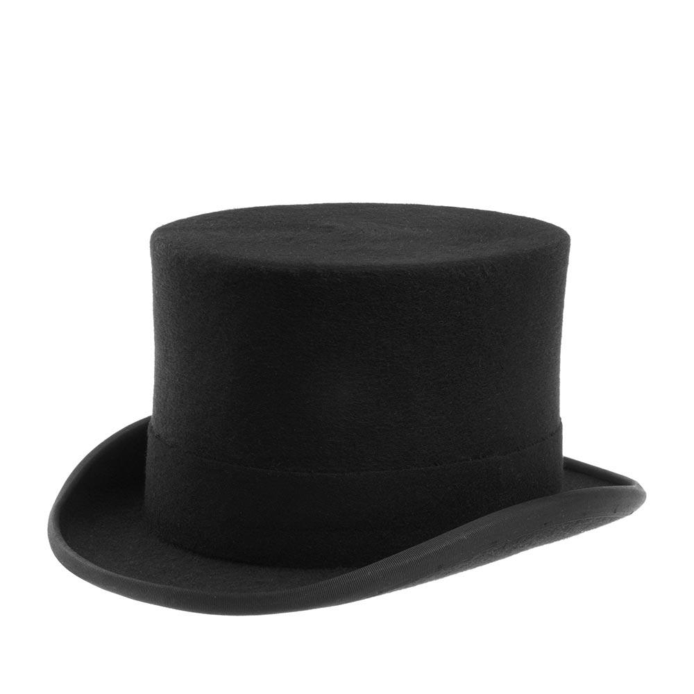 Шляпа CHRISTYS арт. WOOL FELT TOP HAT cst100006 (черный)
