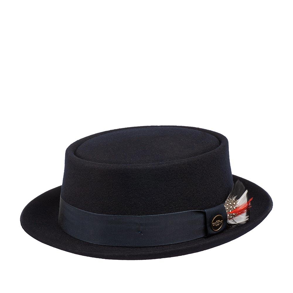 Шляпа CHRISTYS арт. HERITAGE PORK PIE cwf100233 (синий)
