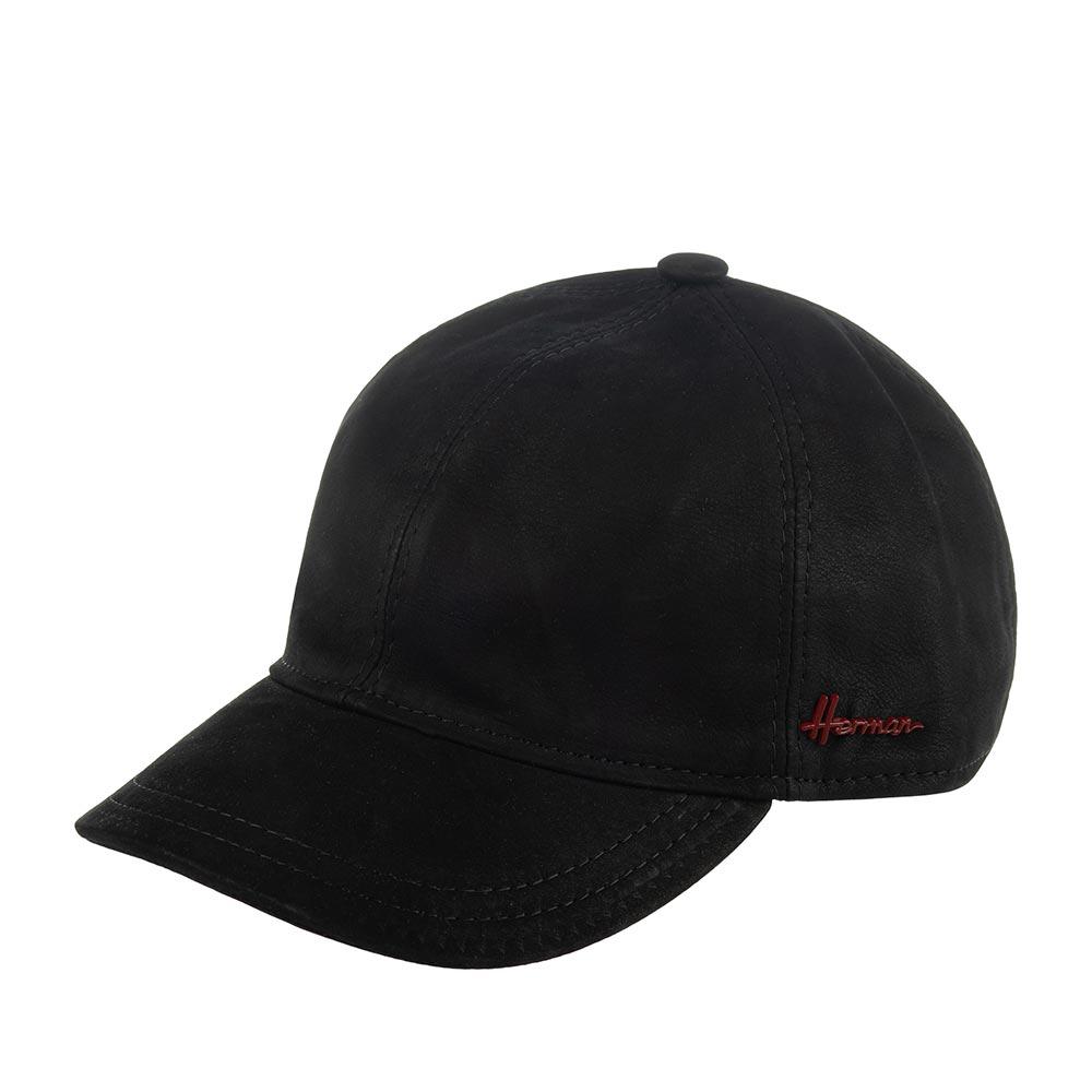 Бейсболка HERMANБейсболки<br>Conquest king - ультрастильная бейсболка, классического черного цвета от Herman. Сшита в Италии из кожи. Модель представляет собой всесезонную бейсболку классического кроя, которая отлично подойдёт ко многим вещам из весенне-осенней верхней одежды, да и просто к пуловеру и светлым спортивным брюкам в прохладную погоду. Сзади кепки есть регулирующий ремешок. Верх бейсболки украшен пуговкой. Сбоку модель обозначена маленьким логотипом бренда Herman. Conquest king удобно садится на голову. Внутри пришита лента для комфортной посадки, а все швы прострочены и отделаны тканью. Лёгкие потёртости на поверхности придают головному убору, и образу в целом, характер, винтажный лоск и индивидуальность, поэтому носите эту бейсболку как можно чаще, от этого она станет только интереснее!