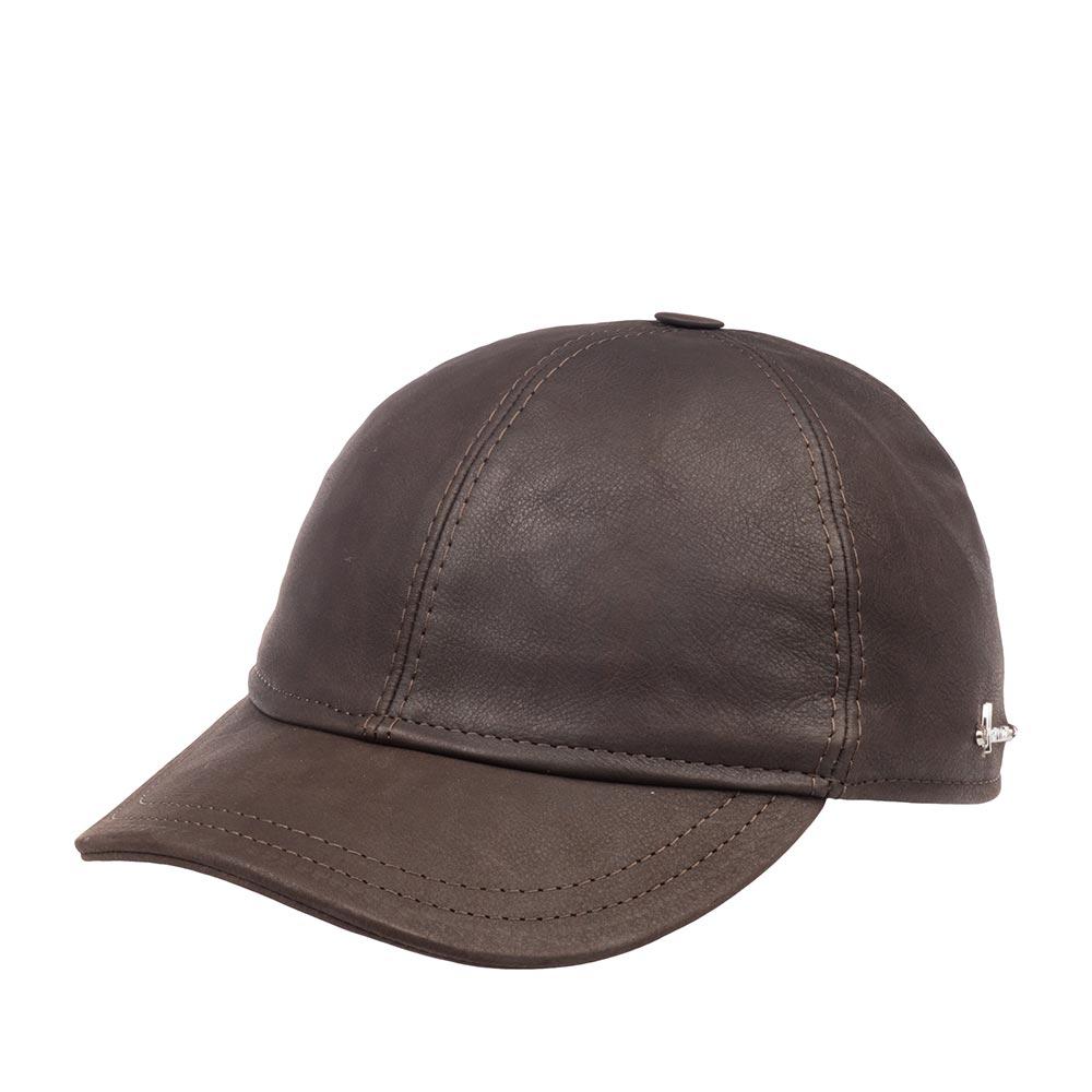 Бейсболка HERMANБейсболки<br>Conquest king - ультрастильная бейсболка, спокойного, темно-коричневого цвета от Herman. Сшита в Италии из кожи. Модель представляет собой всесезонную бейсболку классического кроя, которая отлично подойдёт ко многим вещам из весенне-осенней верхней одежды, да и просто к пуловеру и светлым спортивным брюкам в прохладную погоду. Сзади кепки есть регулирующий ремешок. Верх бейсболки украшен пуговкой. Сбоку модель обозначена маленьким логотипом бренда Herman. Conquest king удобно садится на голову. Внутри пришита лента для комфортной посадки, а все швы прострочены и отделаны тканью. Лёгкие потёртости на поверхности придают головному убору, и образу в целом, характер, винтажный лоск и индивидуальность, поэтому носите эту бейсболку как можно чаще, от этого она станет только интереснее!