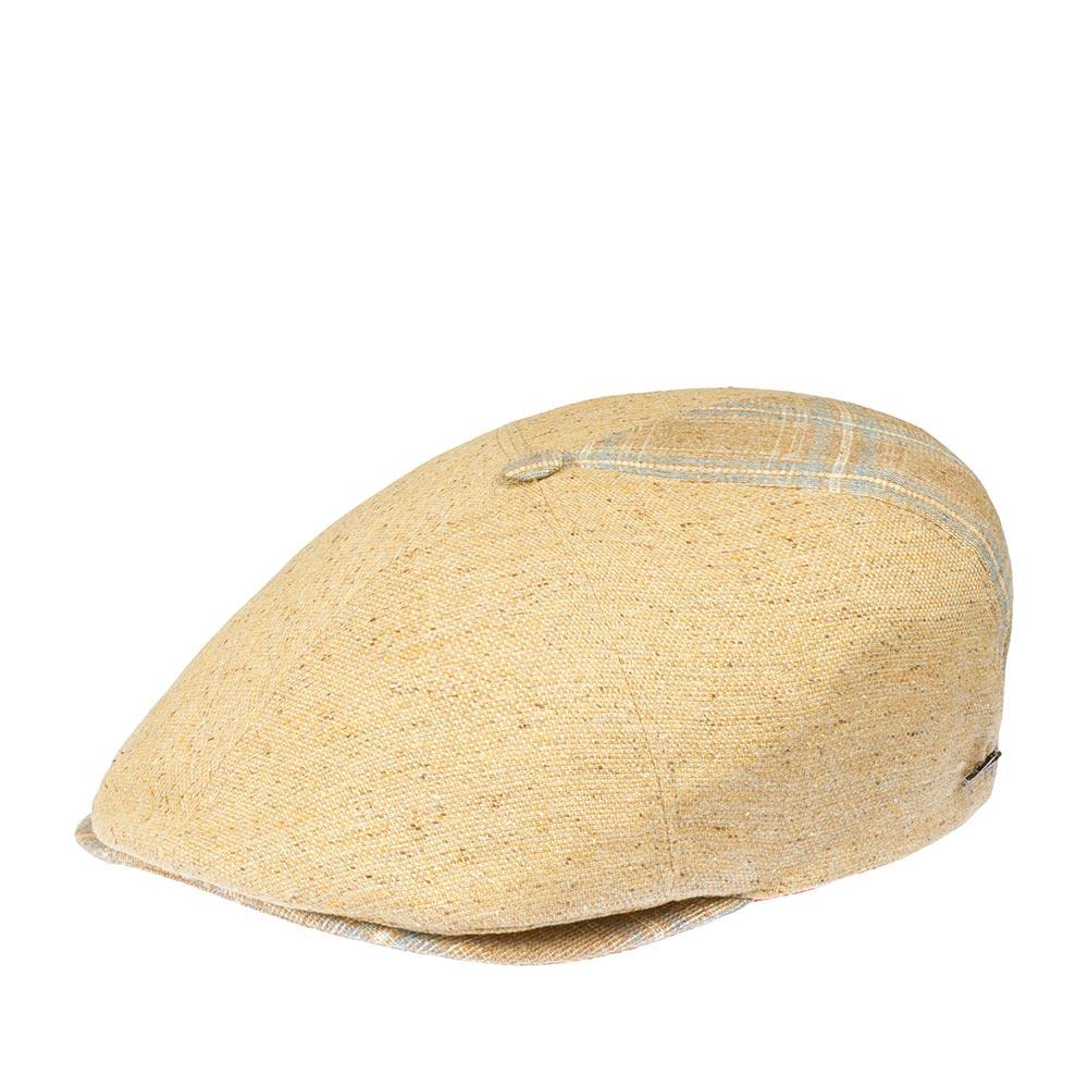 Кепка уточка HERMANКепки<br>Usurper - кепка уточка от бренда Herman. Сшита в Италии из льна, с добавлением шерсти и шелка. Это универсальная модель в оттенках бежевого, с красивым узором в тонкую клетку. Интересно, что один из шести клиньев отличается по оттенкам, также как пуговка сверху и небольшой козырек - они более темные, с добавлением голубого. Внутри подкладка для большего комфорта. Этот головной убор отлично будет сочетаться практически со всеми вещами гардероба и подойдет для прохладной погоды в любой сезон.