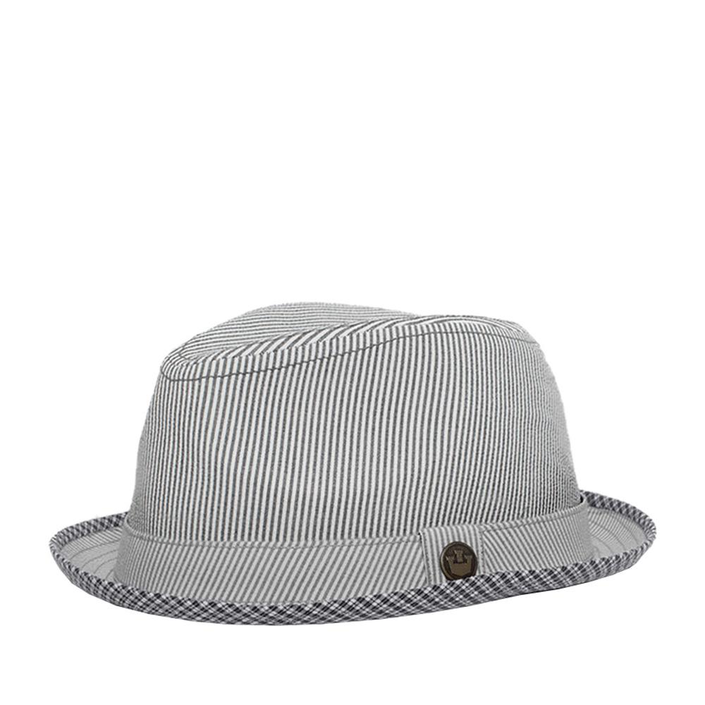 Шляпа хомбург GOORIN BROTHERSШляпы<br>Летний хомбург от GOORIN BROTHERS. Эта универсальная модель прекрасно подойдёт к любому гардеробу. Тулью украшает лента из того же материала, что и сама шляпа. Внутри головной убор полностью на хлопковой подкладке и по окружности пришита лента для комфортной посадки по голове. Высота тульи - 9,5 см, ширина полей - 4 см.