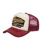 Бейсболка STETSON арт. 7751103 TRUCKER CAP AMERICAN HERITAGE (бордовый / белый) {87}