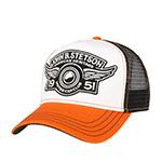 Бейсболка STETSON арт. 7751130 TRUCKER CAP CAR CLUB (белый / рыжий) {98}