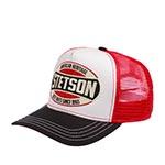 Бейсболка STETSON арт. 7751131 TRUCKER CAP HERITAGE (белый / красный) {18}