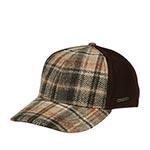 Бейсболка STETSON арт. 7720303 BASEBALL CAP WOOL CHECK (коричневый / бежевый)