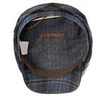 Кепка STETSON арт. 6380318 DRIVER CAP WOOL CHECK (синий / черный)