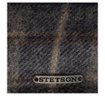 Кепка STETSON арт. 6610312 TEXAS LAMBSWOOL CHECK (серый / синий)