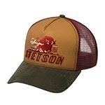 Бейсболка STETSON арт. 7751176 TRUCKER CAP STRONGER BISON (коричневый / бордовый)