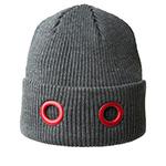 Шапка KANGOL арт. K3027ST Eyelet Beanie (серый / красный)