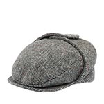 Кепка HANNA HATS арт. Lugg 78202 (серый / черный)