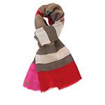 Шарф HERMAN арт. SCARF S1704 (красный / серый) {pink}