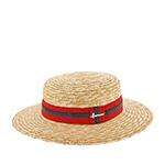 Шляпа HERMAN арт. BOATER S1801 (бежевый / красный)