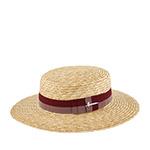 Шляпа HERMAN арт. BOATER S1802 (бежевый / бордовый)