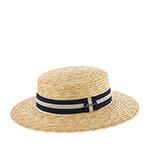 Шляпа HERMAN арт. BOATER 007 (бежевый / синий)