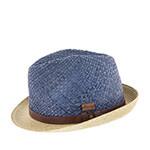 Шляпа HERMAN арт. DON DALLAS (синий / бежевый) {blue}