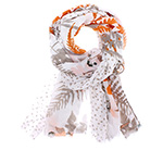 Шарф HERMAN арт. BRIDGE 019 (оранжевый / белый)
